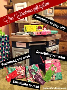Our family's Christmas gift system {Heather's Handmade Life}