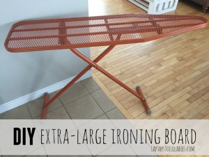 Oversized ironing board tutorial