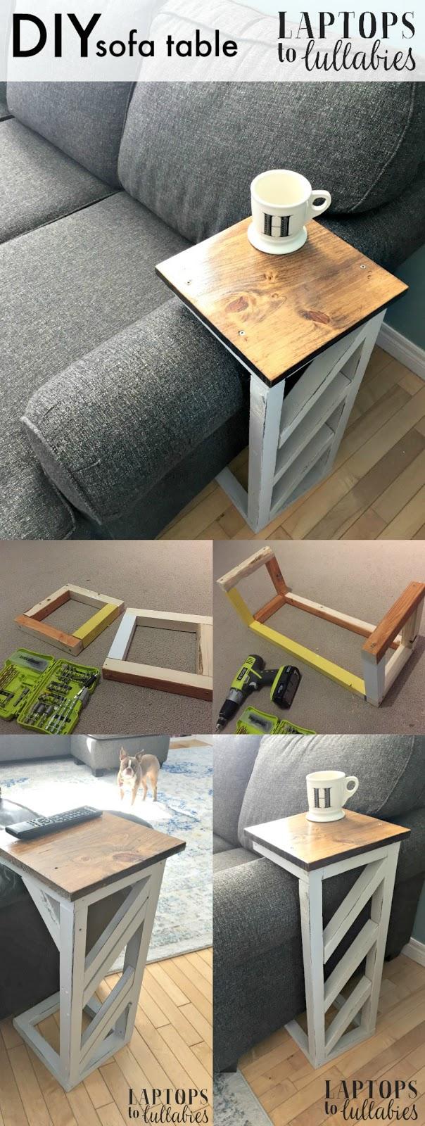 Easy Diy Sofa Tables Heather S Handmade Life
