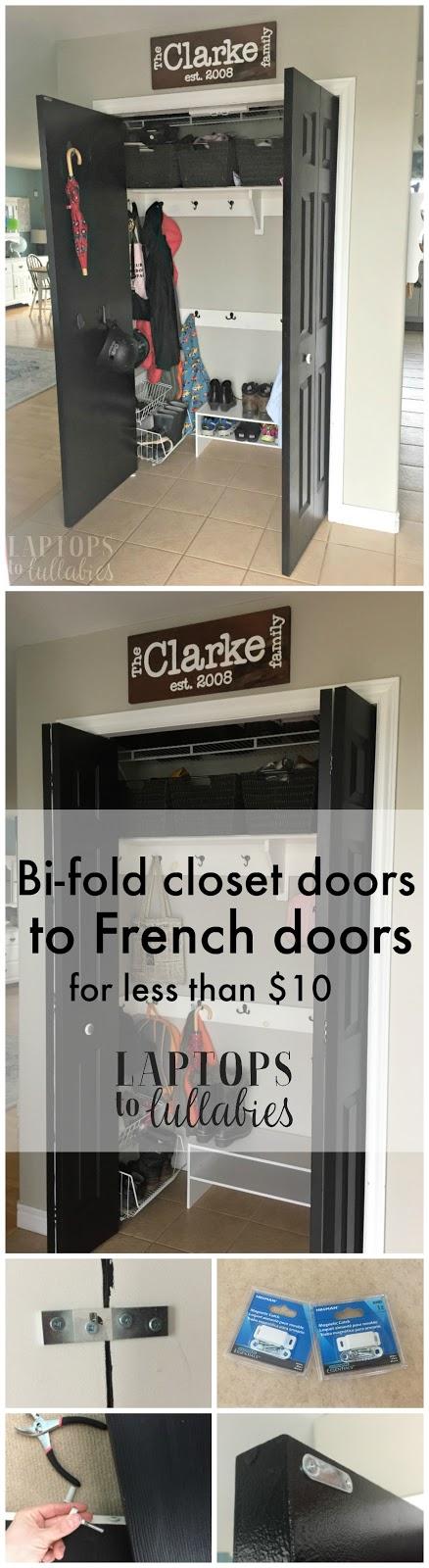 Converting Our Bi Fold Closet Doors To Double Doors